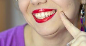 Beau composez des lèvres de lustre Photos stock
