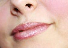 Beau composez des lèvres de lustre Image libre de droits