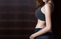 Beau corps mince de femme Photographie stock