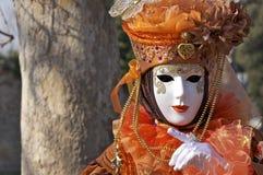 Beau costumé orange rêveur Photo stock