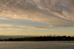 Beau coucher du soleil à la Mer Adriatique calme Image libre de droits