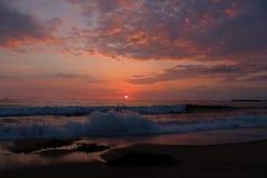 Beau coucher du soleil à Redondo Beach, le comté de Los Angeles, la Californie photographie stock