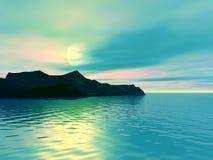 Beau coucher du soleil illustration de vecteur