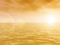 Beau coucher du soleil illustration libre de droits