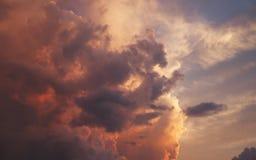 Beau coucher du soleil Photographie stock