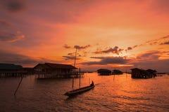 Beau coucher du soleil Photos libres de droits