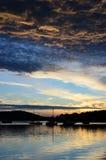 Beau coucher du soleil Image stock