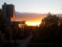 Beau coucher du soleil Images libres de droits