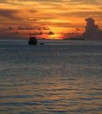 Beau coucher du soleil Photo libre de droits