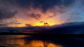 Beau coucher du soleil Images stock