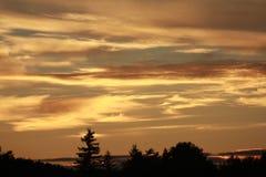 Beau coucher du soleil Photographie stock libre de droits