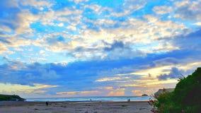 Beau coucher du soleil au-dessus des Cornouailles Images libres de droits