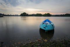Beau coucher du soleil au marécage, Putrajaya Images stock