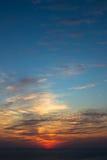 Beau coucher du soleil au quebrada de La d'Acapulco Images stock