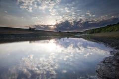 Beau coucher du soleil d'été Images stock