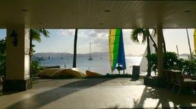 Beau coucher du soleil d'île de St Johns image libre de droits