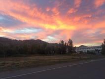 Beau coucher du soleil d'art de ciel images stock