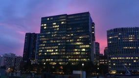 Beau coucher du soleil de Boston image stock
