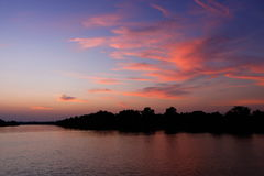 Beau coucher du soleil de ciel photographie stock