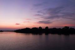 Beau coucher du soleil de ciel photos stock