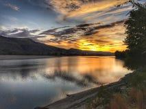 Beau coucher du soleil de Kamloops Photographie stock