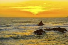 Beau coucher du soleil de la Californie image stock