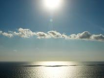 Beau coucher du soleil de mer Photographie stock libre de droits