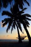 Beau coucher du soleil de vacances Image stock