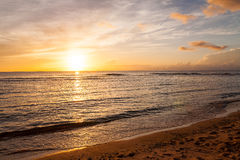 Beau coucher du soleil du Pacifique Photo libre de droits