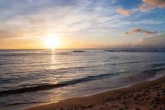 Beau coucher du soleil du Pacifique Image libre de droits