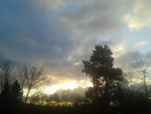 Beau coucher du soleil, Dundee Ecosse Images stock