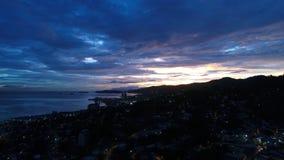 Beau coucher du soleil en île des Caraïbes Image libre de droits