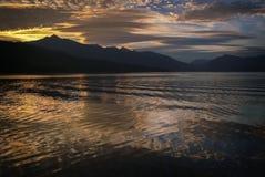 Beau coucher du soleil en Alaska du sud-est Photos stock