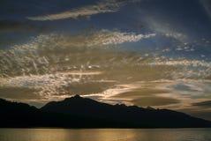 Beau coucher du soleil en Alaska du sud-est Photos libres de droits