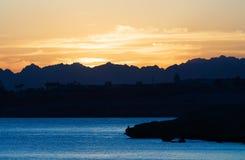 Beau coucher du soleil en Egypte Image libre de droits