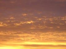 Beau coucher du soleil en Finlande, ici en Scandinavie Photographie stock libre de droits