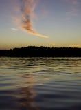 Beau coucher du soleil en mer Photo libre de droits