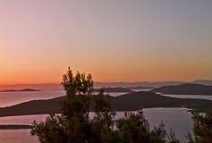 Beau coucher du soleil en Turquie Photos stock