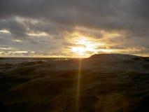 Beau coucher du soleil m?me au Lib?ria, Afrique photographie stock