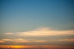 Beau coucher du soleil majestueux Image libre de droits