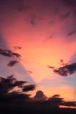 Beau coucher du soleil paisible Photo libre de droits