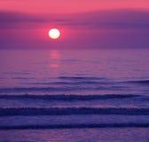 beau coucher du soleil rose de lever de soleil photo libre de droits