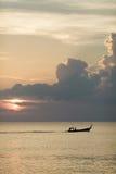 Beau coucher du soleil rose tropical Photographie stock libre de droits