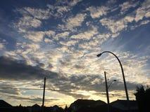 Beau coucher du soleil scénique Photographie stock libre de droits