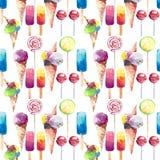 Beau crème glacée congelée de jus d'été par dessert mignon délicieux savoureux délicieux coloré lumineux en sucreries d'un klaxon Photographie stock