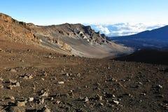 Beau cratère de Haleakala sur Maui Photographie stock