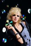 Beau culbuteur blond de fille Photographie stock libre de droits