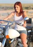 Beau curseur de moto Photos libres de droits