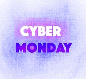 Beau cyber lumineux transparent merveilleux tendre artistique abstrait lundi d'hiver marquant avec des lettres la main violette I Photos libres de droits