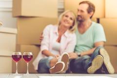Beau déplacement mûr de couples Photo stock
